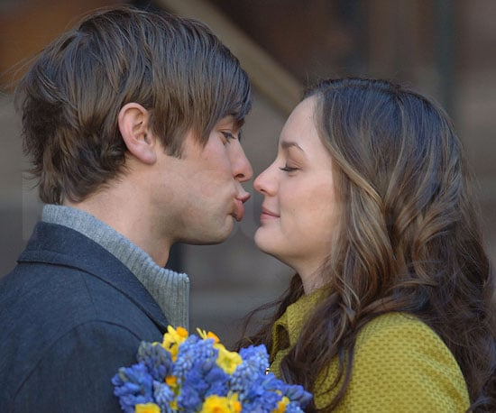 Photo of Leighton Meester and Chace Crawford Filming Gossip Girl