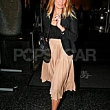 Lauren Conrad smiled on a night out in LA.