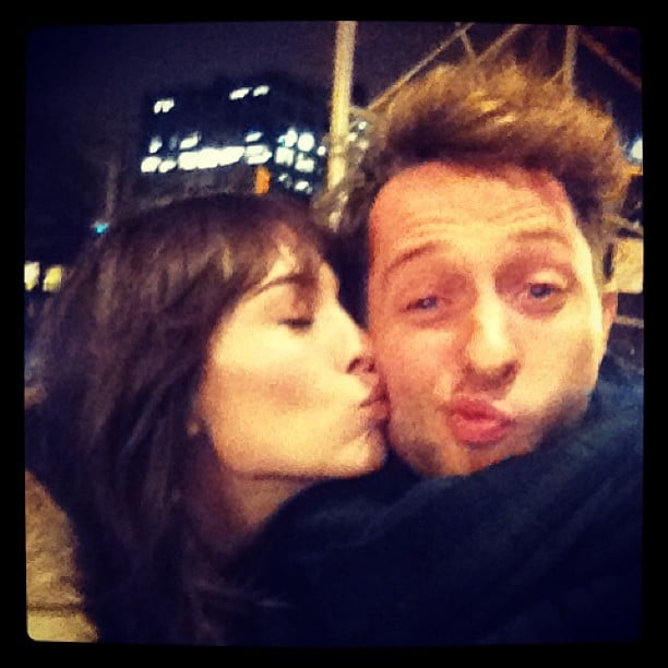 Derek Blasberg got a kiss on the cheek from Alexa Chung. Source: Twitter user DerekBlasberg