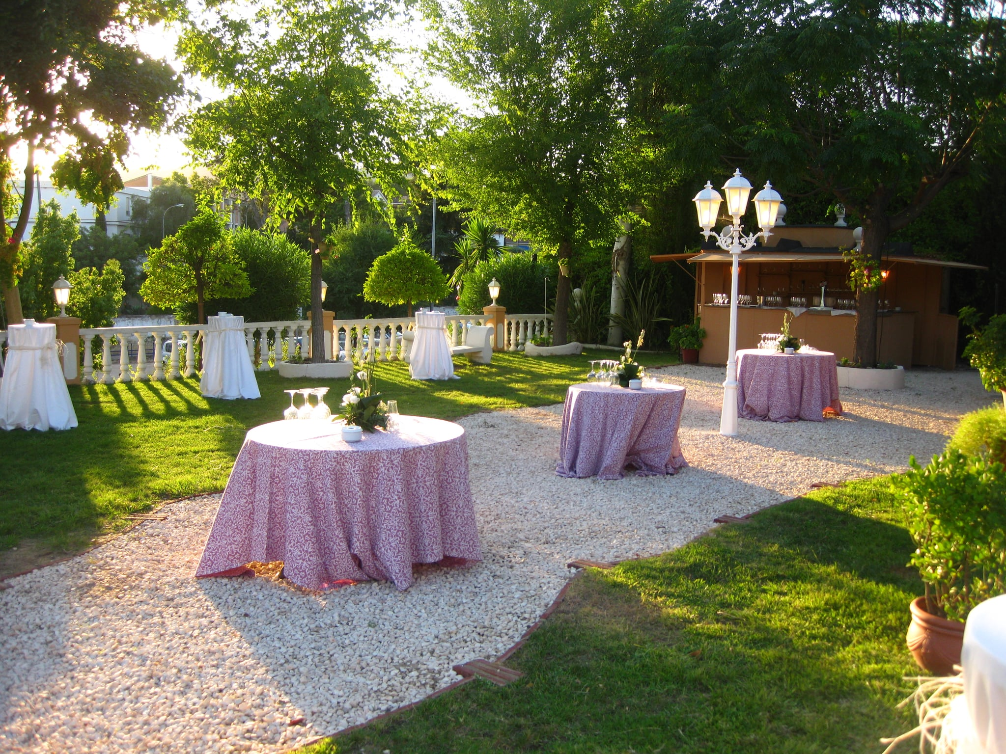 This is the area where they held the cocktail hour. It was on grass which proved to be difficult for the girls (like myself) in high heels.