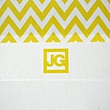 Yellow Chevron Monogram