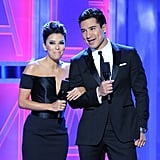 Eva Longoria and Mario Lopez commanded attention on stage.