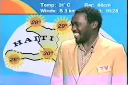Haitian Weather Man Brings 9 Seconds of Joy