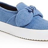 Rebecca Minkoff Stacey Denim Slip-On Platform Sneakers