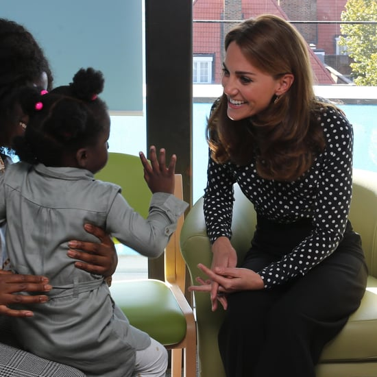 Kate Middleton Laughing With Little Girl at Sunshine House