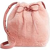 Mansur Gavriel Mini Genuine Shearling Bucket Bag