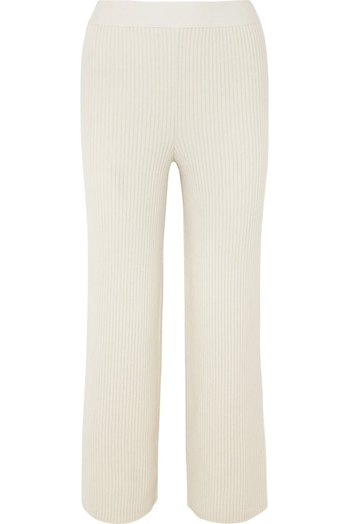 Markus Lupfer Tilda Ribbed Wool-and-Cashmere Blend Straight-Leg Pants