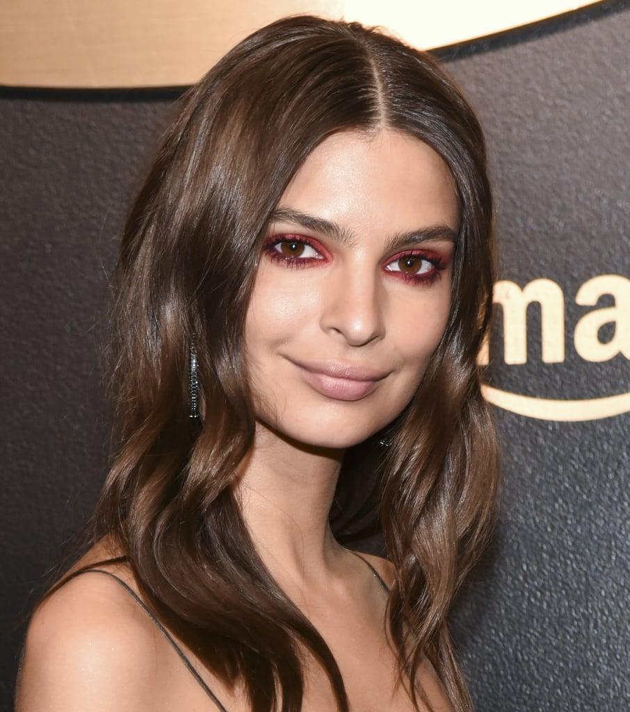 Emily Ratajkowski's Makeup at Golden Globes 2018
