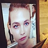 Jill Stuart did away with the face chart and used tablets instead.