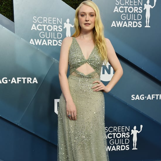 Dakota Fanning Green Valentino Gown at the SAG Awards 2020