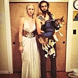 Khal Drogo and Daenerys (Plus Dog as a Dragon)