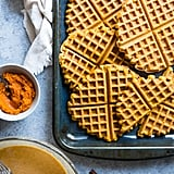 Paleo Waffles With Pumpkin Spice Cream Sauce