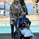 Tom Brady and Gisele Bündchen went for a walk around Boston with baby Benjamin.