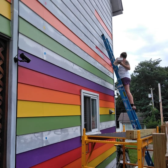 Lesbian Couple Paints Their House Rainbow