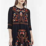 French Connection Colourful Kiko Embroidered Smock Dress (£135)