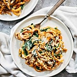 Creamy Spinach Sweet Potato Noodles With Cashew Sauce