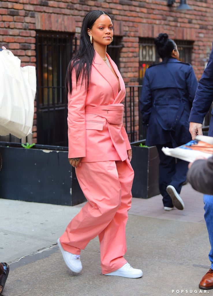 Rihanna Just Wore a Barbie Pink Suit With a Fanny Pack, and I'm Squealing!