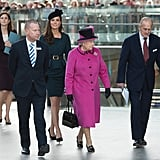 Kate Middleton and Queen Elizabeth boarded a train with Prince Philip.