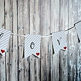 """Love"" Banner Backdrop"