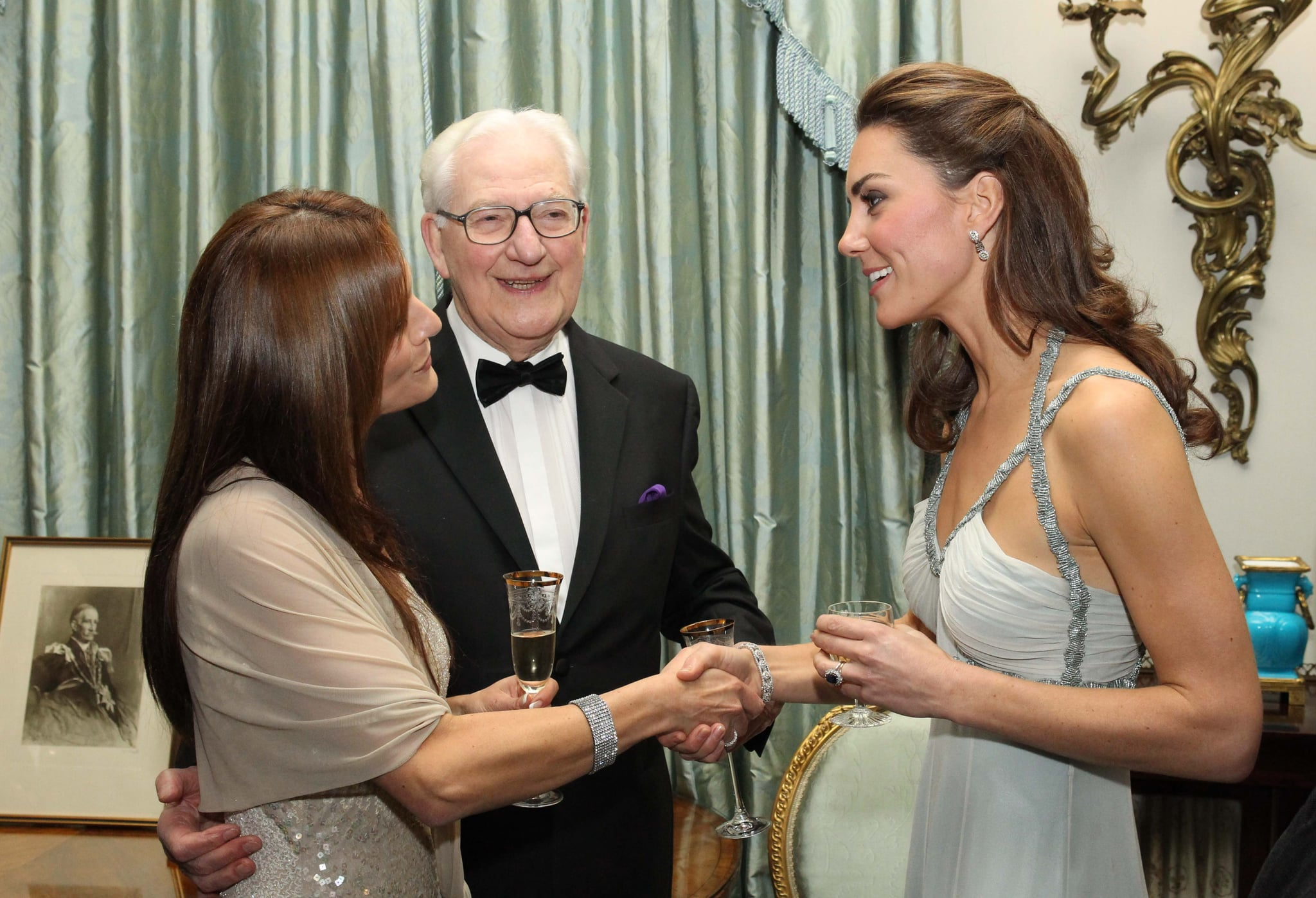 Kate Middleton at her first ever solo royal engagement.