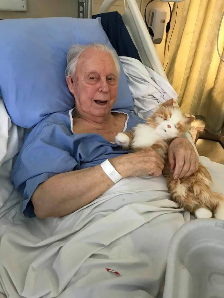 Man With Dementia Receives Robotic Cat For Christmas