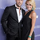 The couple made one of their first red carpet appearances together in 2012 at the Australians in Film Breakthrough Awards.