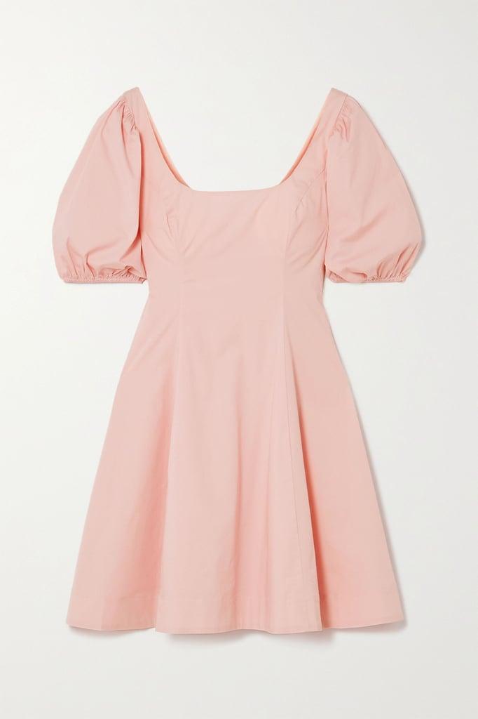 STAUD Laelia Stretch-Cotton Poplin Mini Dress