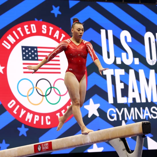 Gymnast Emily Lee Climbs a Rope After Achilles Surgery