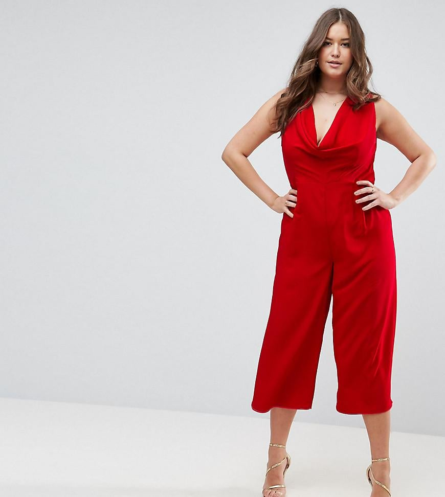 Asos Curve Jumpsuit with Cowl Neck