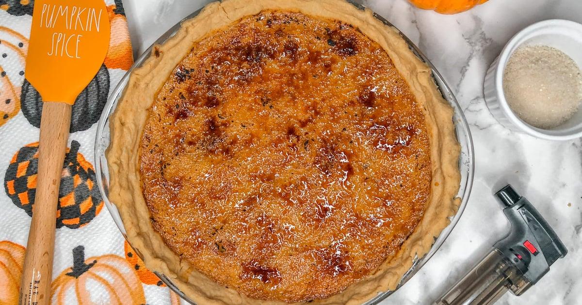 What Could Be Better Than Classic Pumpkin Pie? Crème Brûlée Pumpkin Pie, Duh