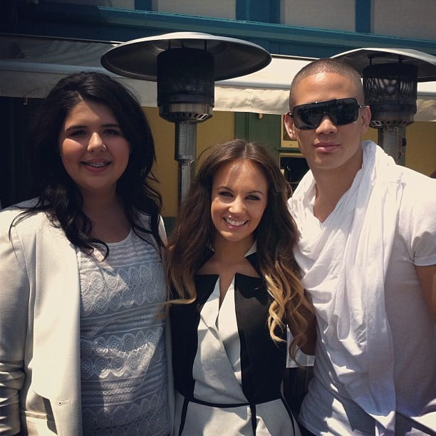 The X Factor Australia 2012 contestants Shiane Hawke, Samantha Jade and Nathaniel Willemse.