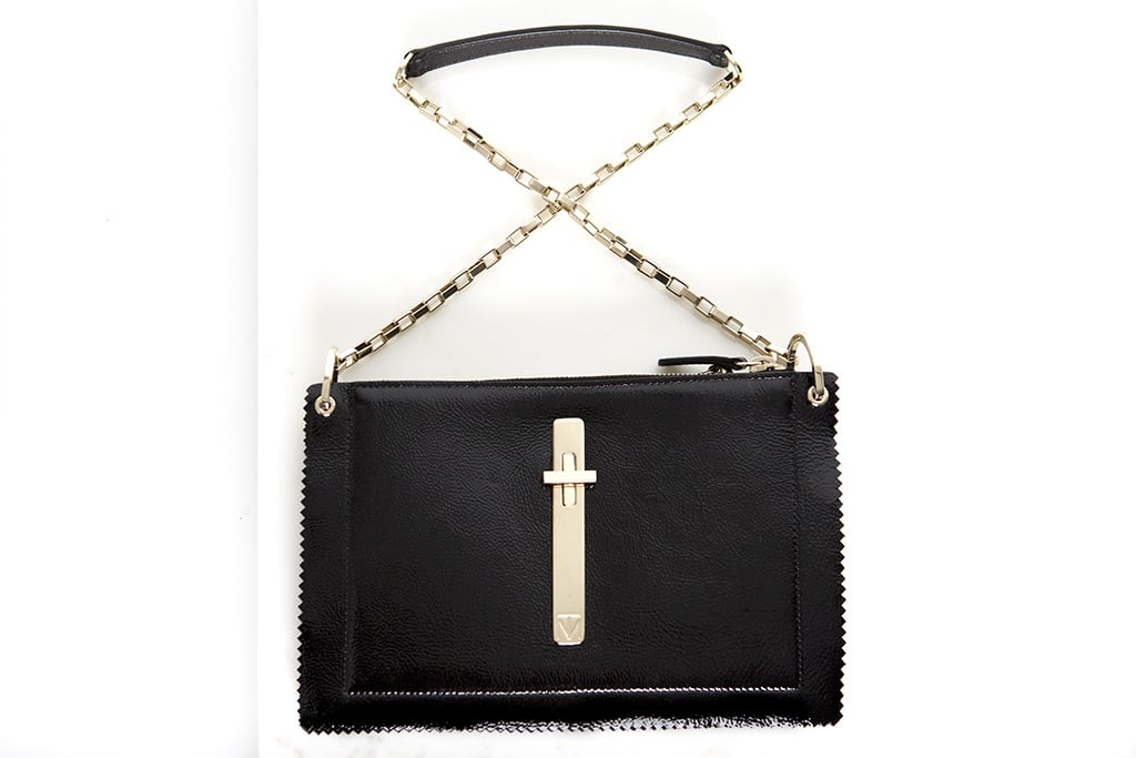 Attraction Patent Shoulder Bag in Black ($1,795) Photo courtesy of Tamara Mellon