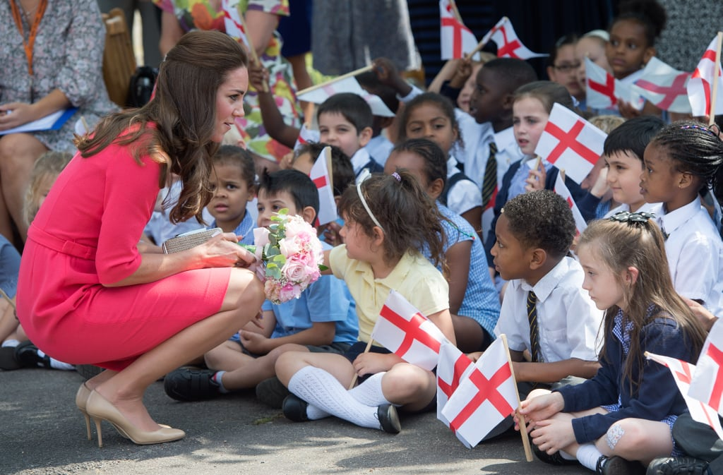 Kate Middleton at the Blessed Sacrament School