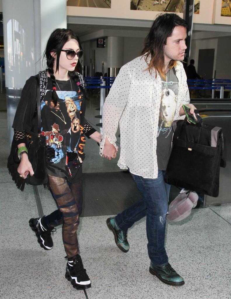 Frances Bean Cobain and Isaiah Silva