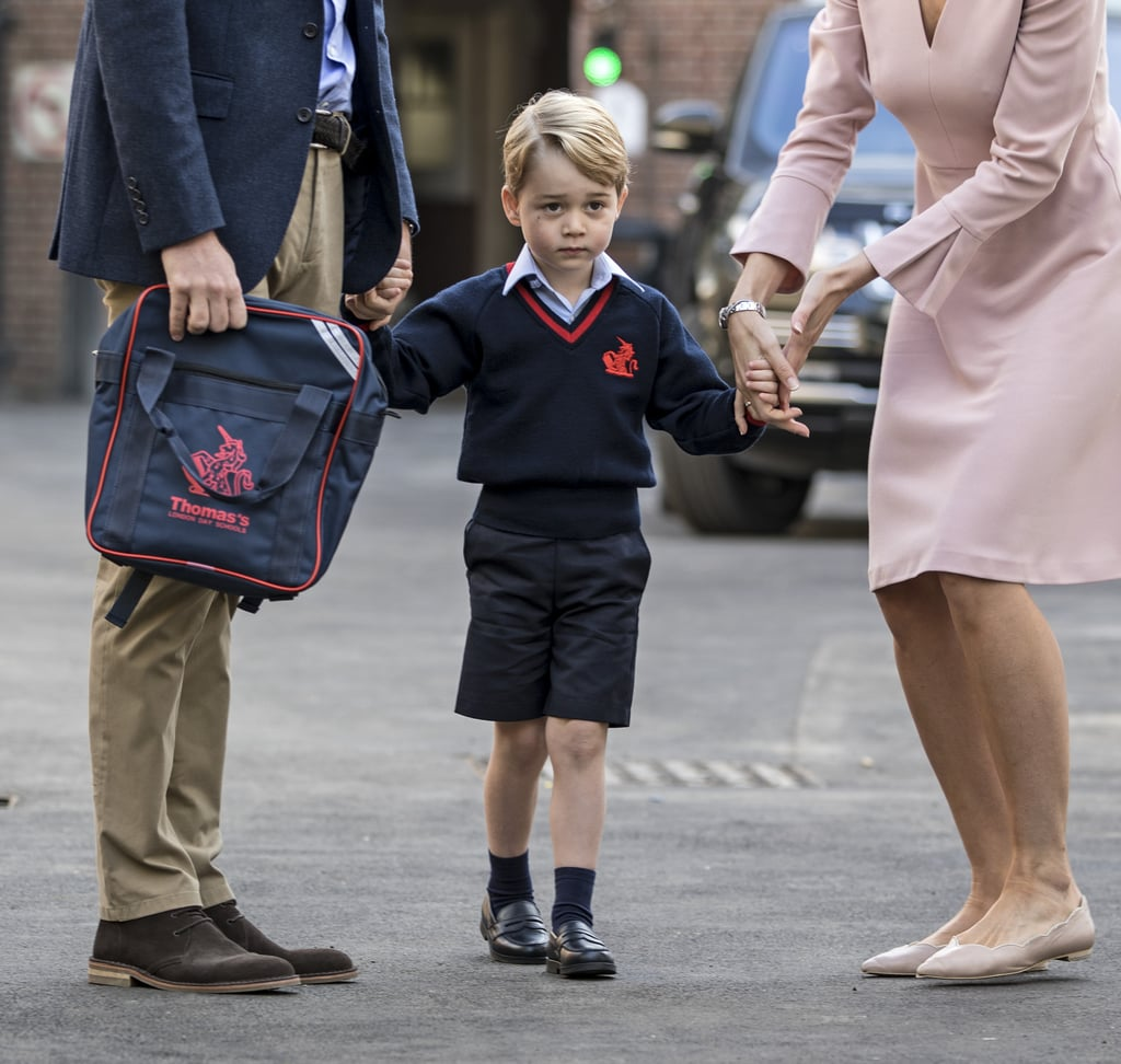 When He Attended His First Day of School