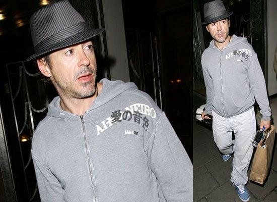 Photos Of Robert Downey Jr Leaving Claridge's Hotel In London