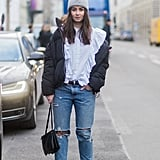 Break Up a Romantic Look With a Tomboy-Feeling Beanie