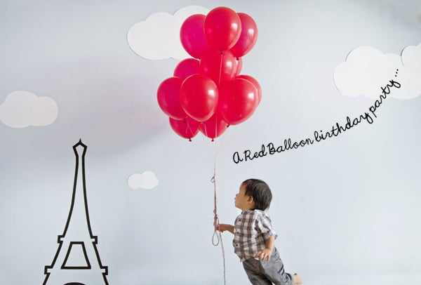 Red Balloon Birthday Party