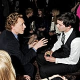 Tom was in a deep conversation with Nicholas Hoult at a Mulberry dinner in London in February 2012.