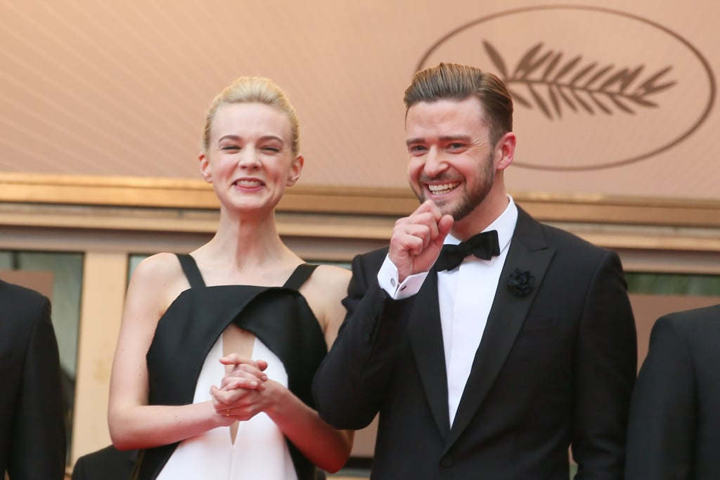 He and Carey Mulligan cracked each other up on the red carpet at the Cannes Film Festival premiere of Inside Llewyn Davis in May 2013.