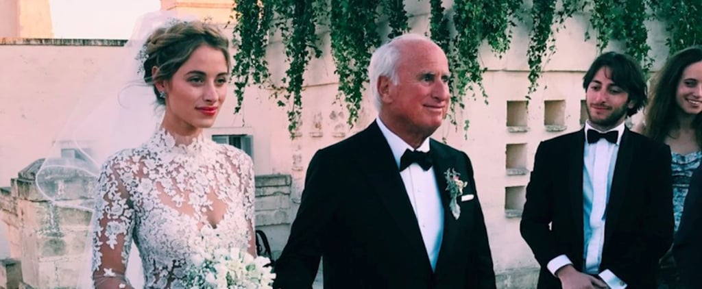This Bride's Gorgeous, Sheer Wedding Gown Will Give You Major Heart Eyes
