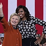 Michelle supported the Democratic presidential candidate at an October event in North Carolina.