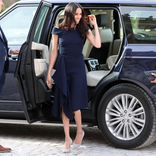 Meghan Markle Blue Roland Mouret Dress