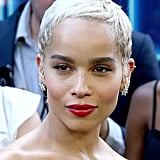 Bold: Zoë Kravitz  But we love how a pinkish-red lip glams up Zoë's whole pared-down look.