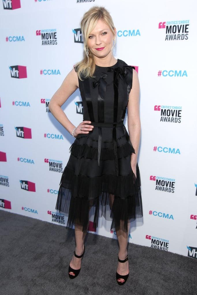 Kirsten Dunst was flirty in Dior at the Critics' Choice Movie Awards.