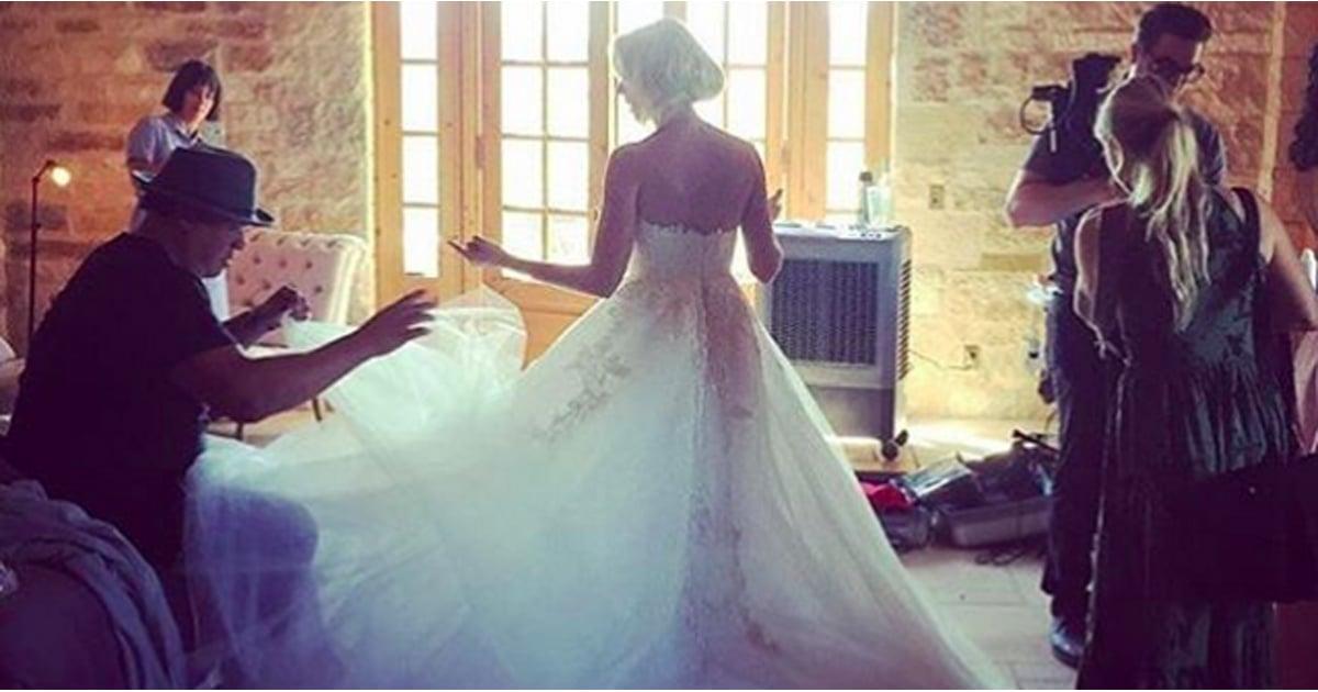 Anna Camp\'s Wedding Dress | POPSUGAR Fashion