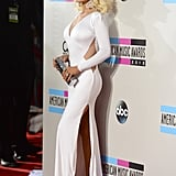 Christina Aguilera was one of the many ladies wearing white on the carpet.