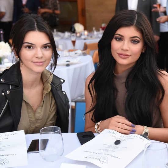Kendall and Kylie Jenner Wearing Khaki Dresses