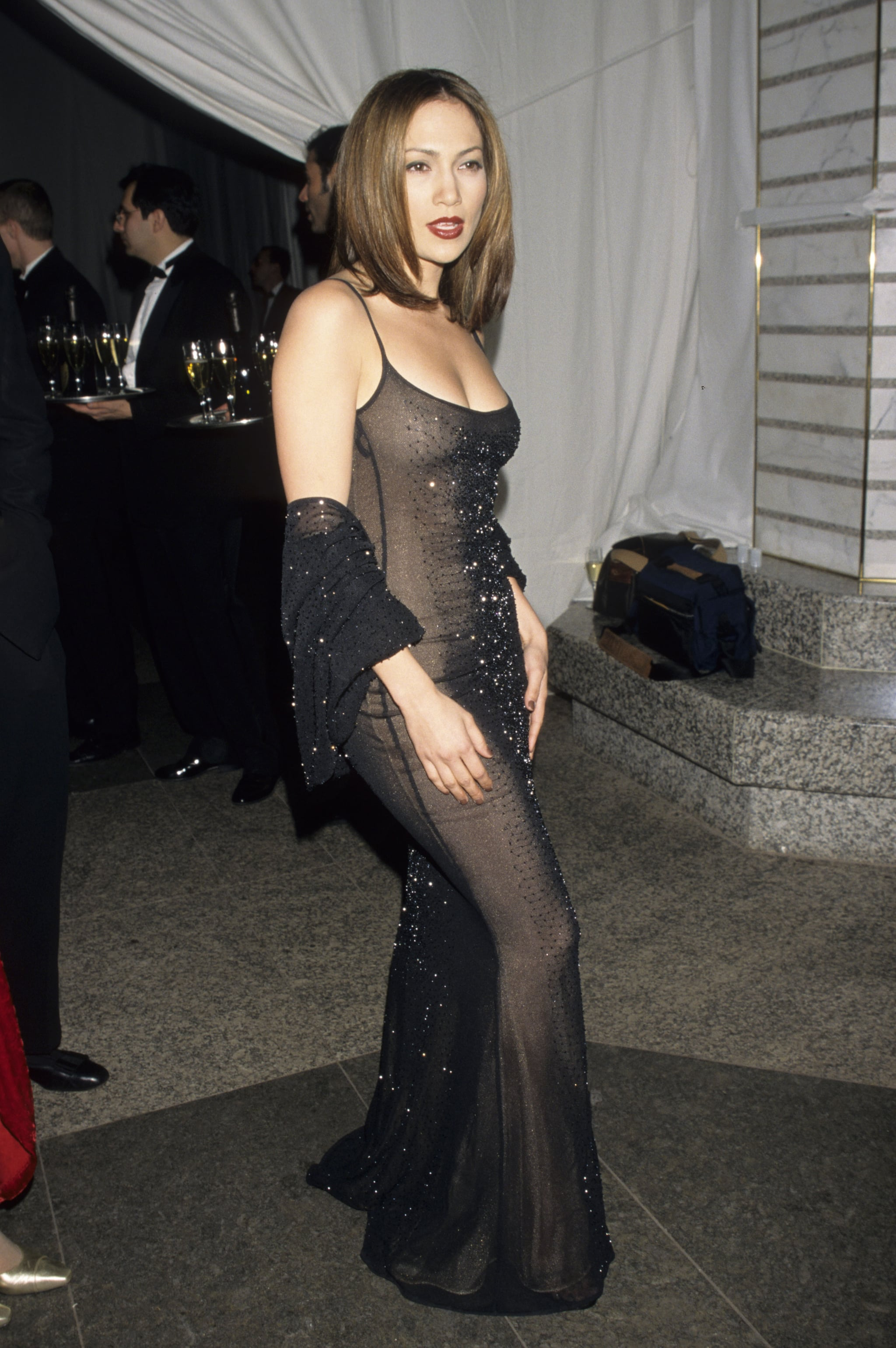 Sheer and super-sexy at the CFDA Awards in '98.
