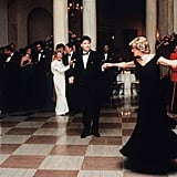 She danced with John Travolta during a banquet in Austria in April 1986.